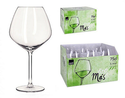 Royal Leerdam Red wine Burgundy glasses XXL 750ml -box of 6- Presentation Box