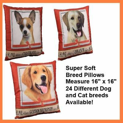 """E&S Pets pillows Dogs Pets High Quality soft pillow with dog picture 16"""" x16"""""""