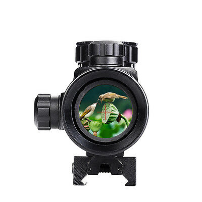 100% New 1x40RD Holographic Red Dot Sight Rifle Scope For 11mm/20mm New