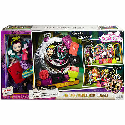 Ever After After High Way Too Wonderland Play Set With Raven Queen Doll Toy