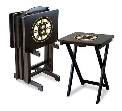 Imperial NHL TV Trays with Stand Set of 4