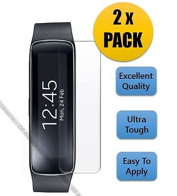 2 X Screen Protector Invisible Crystal Clear Shield For Samsung Galaxy Gear Fit