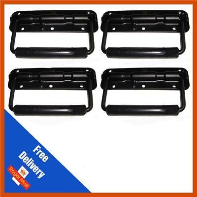 4 x Black Sprung Drop Handle for Flight Case or Speaker Cabinet, Flight Cases