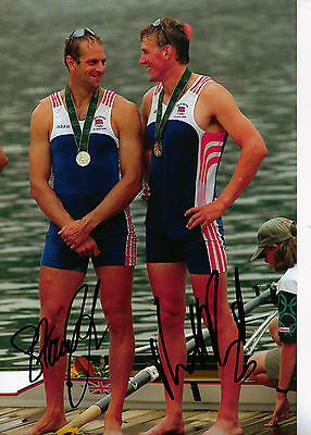 Steve REDGRAVE & Matthew PINSENT Genuine Hand Signed 8x12 Photo