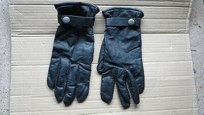 Ladies Black Leather St Michael Gloves. Vintage Stock. Unused. Size M