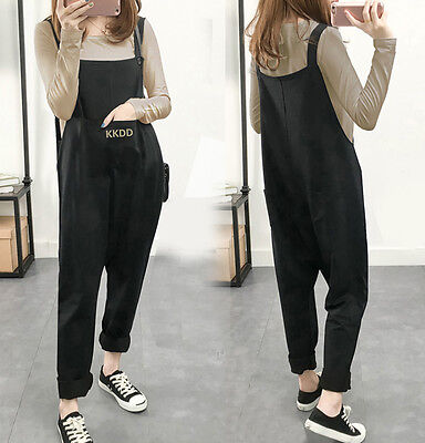 Winter Maternity Jumpsuit Loose Pants Overalls Pregnancy Bib Trousers Warmer
