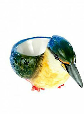 Kingfisher Egg Cup Beautiful China Bird with Whistle in Tail Boxed