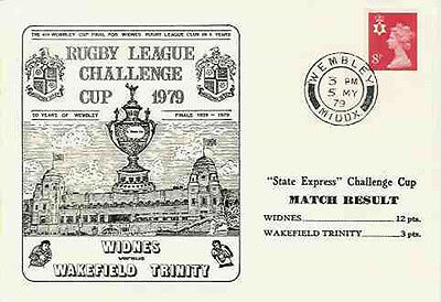 Widnes v Wakefield Trinity 5th May 1979 Commemorative Cover Rugby League
