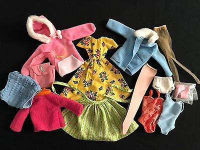 16 pc Vintage Barbie Doll Clothes Lot Dresses, Stockings, Nylons, Jackets