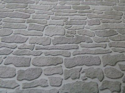 Dolls House Emporium Miniature 1:12 Scale Grey Stone Wallpaper