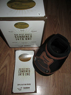 Brand New EasyCare EASYBOOT Back Country Horse Hoof Boot Glove Size 0 BlackBrown