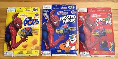 spiderman 2  kellogg's cereal boxes 2004