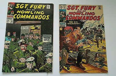 Sgt. Fury and his howling commandos # 60,61