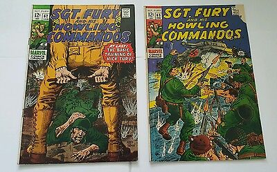 Sgt. Fury and his howling commandos # 62,63