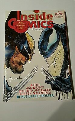 Inside comics # 2 , 1992 price guide  ,wolverine and venom cover sam keith