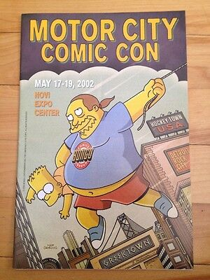motor city comic con program 2002 bart simpson cover