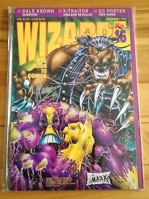 Wizard # 16 The Maxx Cover, Dale Keown Signature