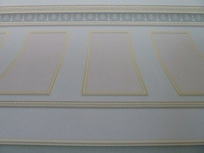 Dolls House Emporium Miniature 1:12 Scale Soft Grey Panel Wallpaper