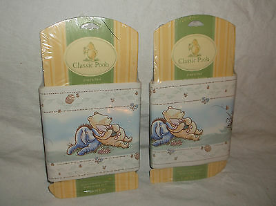 2 Rolls Wallpaper Border/trim Classic Winnie The Pooh A Bear And His Things 10Yd