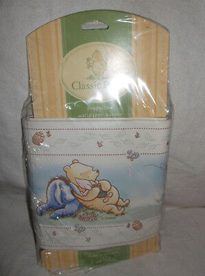 1 Roll Wallpaper Border/trim Classic Winnie The Pooh A Bear And His Things 5 Yds