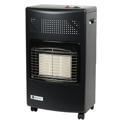Portable Gas Heater Calor Cabinet Radiant Home Warm Hot 4.2 KW 3 Settings Black