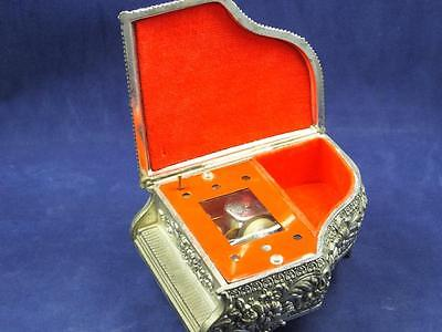 Sankyo Japan Silver Tone Piano Music Box Lara's Theme Dr. Shivago