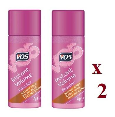 2 x VO5 GIVE ME TEXTURE INSTANT OOMPH POWDER 7g EACH