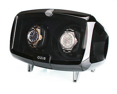 AXIS® Dual Automatic 2 Watch Winder Black AXW094B New For 2016