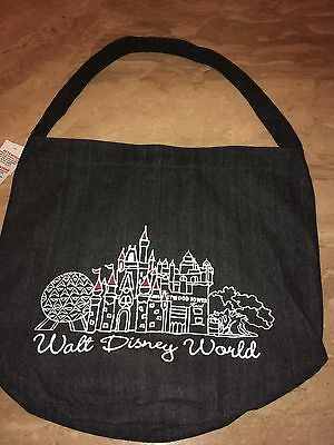 Disney World Denim Large Tote Authentic New