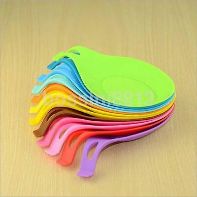 1pcs High temperature Heat Resistant Spoon Pad Silicone Spoon Insulation Mat US