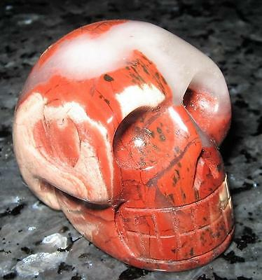 Awesome *red Stripped 4.5Cm Jasper* Carved Gemstone Skull / Reiki / A Grade
