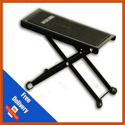 UK Guitar Folding Metal Foot Stool Rest for Acoustic Electric, Classical Guitars