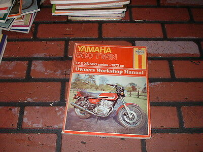 Haynes Manual For Yamaha Xs500 & Tx500 Twins. 1973 On.