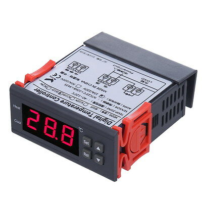 LED Digital Temperature Control Controller Thermostat Switch 12V 10A w/Sensor UK