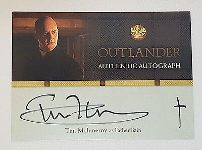 Outlander Series 1 Trading Card Tim Mcinnerny As Farther Bain Signed Autograph