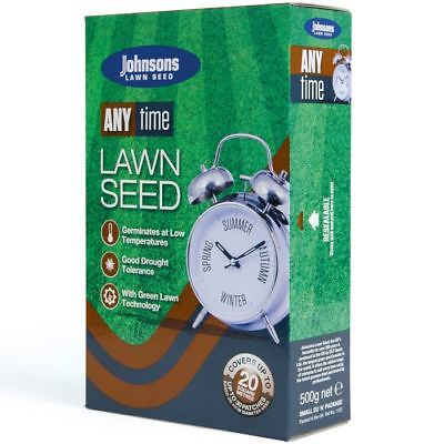 Johnsons Anytime Lawn / Grass Seed - 500g / 20 sqm