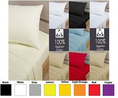 100% Egyptian Cotton 200 Thread Count Fitted Bed Sheets - All Sizes