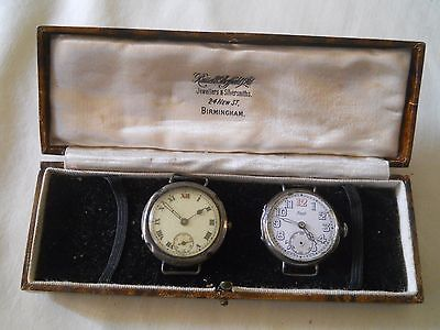 2 Antique Sterling 925 Silver Watches & Case