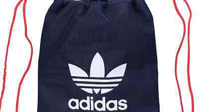 adidas originals trefoil gym sack bag sports bag in collegiate navy-lush red
