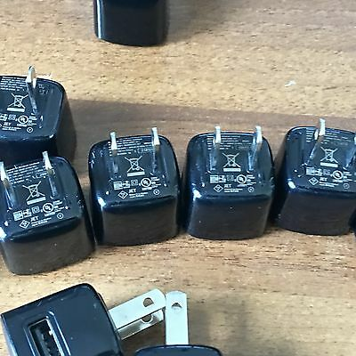 Lot of 20 BlackBerry 5v 850mA BLACK Cell Phone Charger USB Cube ASY-24481-001