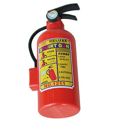 Practical Children Red Plastic Fire Extinguisher Shaped Squirt Water Gun Toy T8