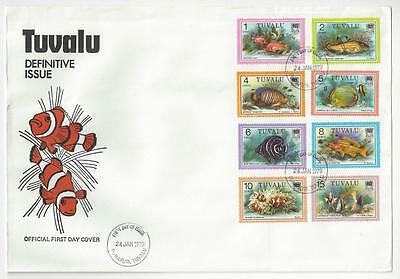 1979 Tuvalu First Day Cover - 8 From Fish Set