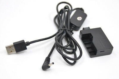 LP-E5 power charger cable ACK-E5+DR-E5 dummy battery For canon 450D 500D XSi