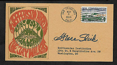 Personalized Jefferson Airplane Autograph 1966 Concert Reprint Postcard *045