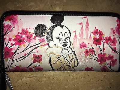 Disney Minnie Mouse Loungefly Cherry Blossom WALLET Authentic