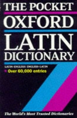 The Pocket Oxford Latin Dictionary Paperback Book The Cheap Fast Free Post