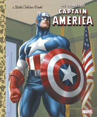 The Courageous Captain America (Little Golden Books) Book The Cheap Fast Free