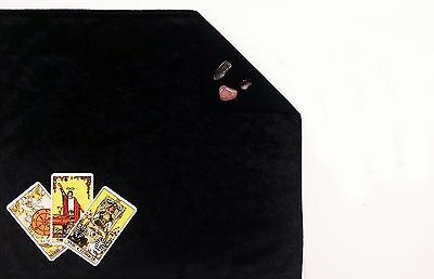 "Black Velvet Lined Tarot Cloth 20""x24"" Lined Altar Runes or Spread Cloth"