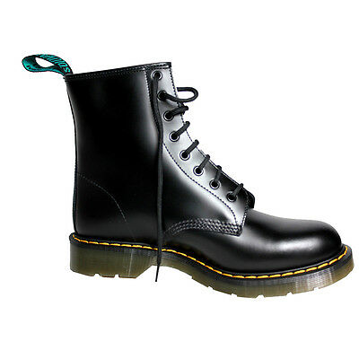 SOLOVAIR Ankle boot leather men with laces colored rubber sole MADE IN UK