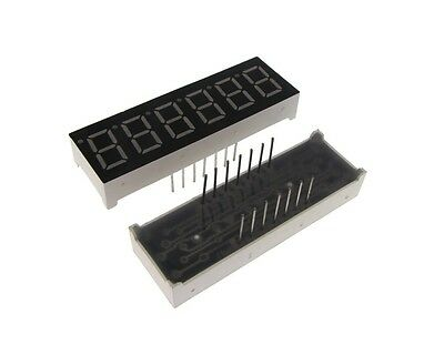 "0.36"" 6 Digit 7-Segment LED Display DIP Common Anode - Red"